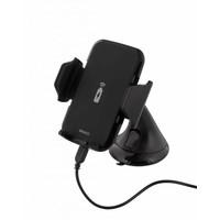 thumb-Deltaco QI-1018 Wireless Qi car charger universele smartphone autohouder met draadloos opladen 5W 1A met zuignap, kabel en 360 graden rotatie zwart-2