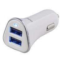 thumb-Deltaco USB-CAR101 Autolader voor auto en vrachtauto 12-24V met 2 x USB poorten 3,4A wit-1