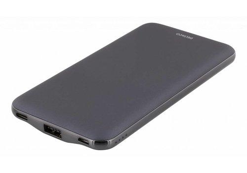 Deltaco lichtgewicht 10.000 mAh USB-C powerbank
