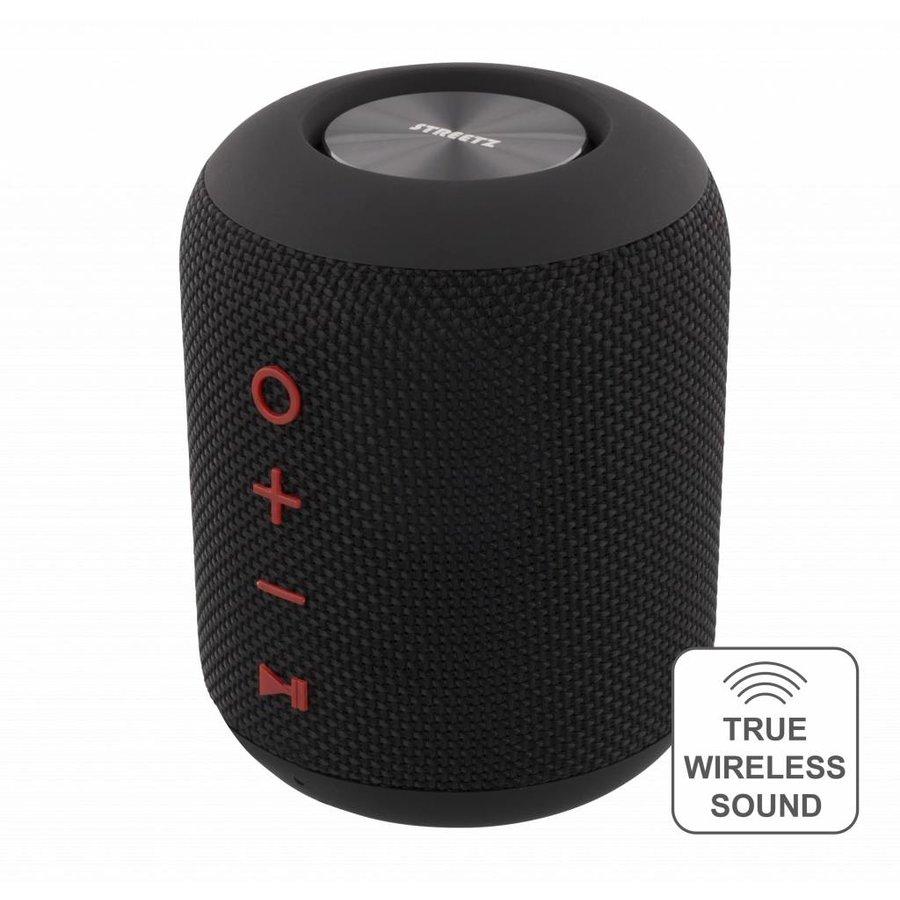 STREETZ  Spatwaterdichte stereo Bluetooth-luidspreker 2x5W, IPX5, TWS in zwart, blauw en oranje-1