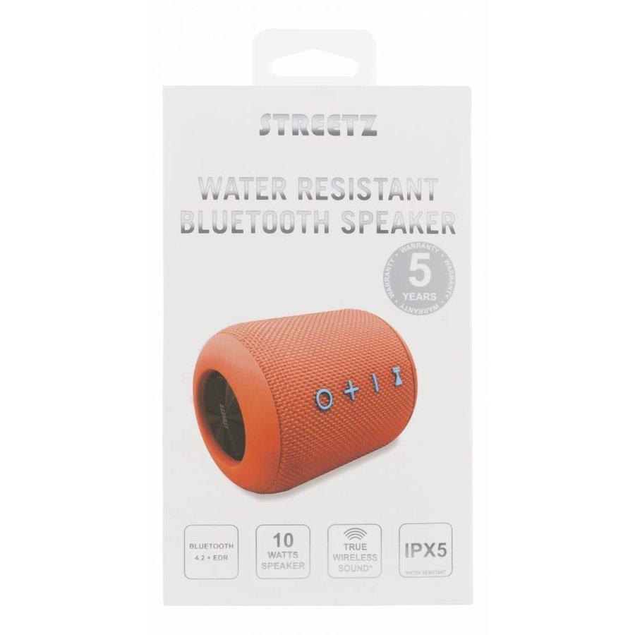 STREETZ  Water resistant stereo Bluetooth-luidspreker 2x5W, IPX5, TWS in black, blue and orange-5