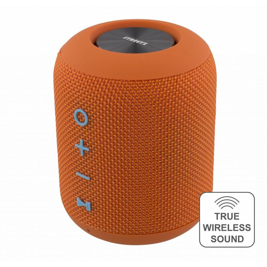 STREETZ  Spatwaterdichte stereo Bluetooth-luidspreker 2x5W, IPX5, TWS in zwart, blauw en oranje-4