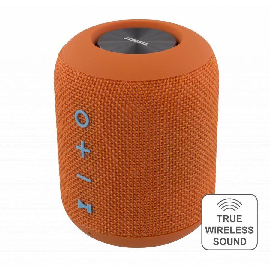 STREETZ  Water resistant stereo Bluetooth-luidspreker 2x5W, IPX5, TWS in black, blue and orange-4