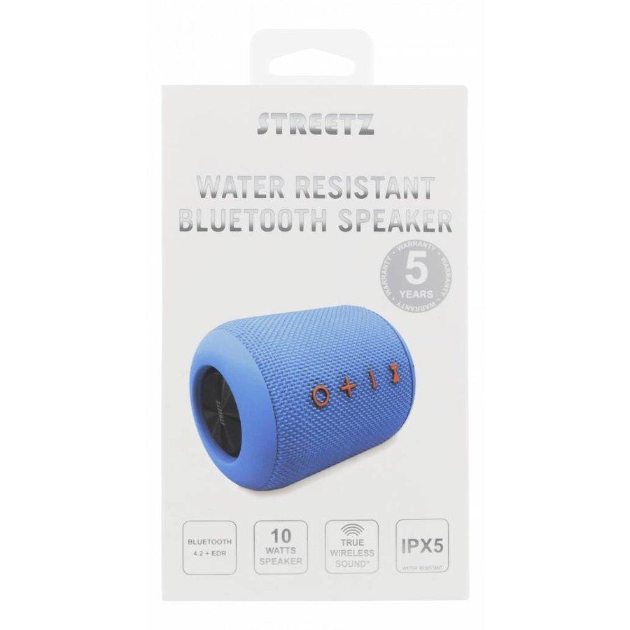 STREETZ  Water resistant stereo Bluetooth-luidspreker 2x5W, IPX5, TWS in black, blue and orange-7