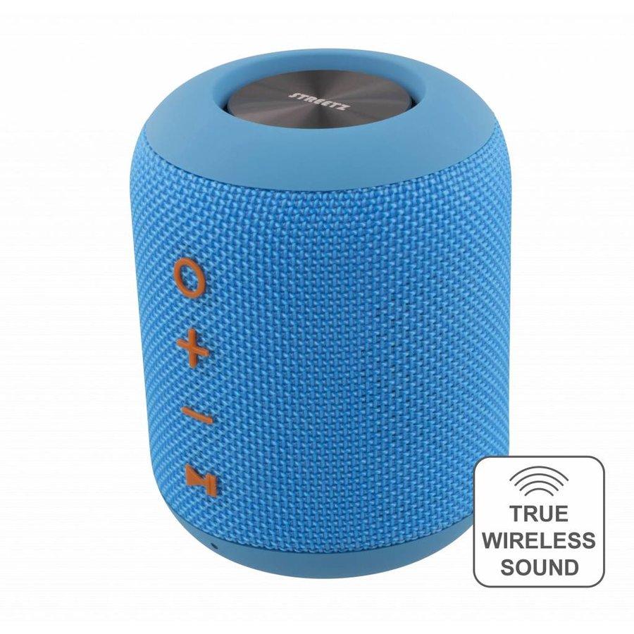 STREETZ  Water resistant stereo Bluetooth-luidspreker 2x5W, IPX5, TWS in black, blue and orange-6