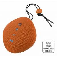 thumb-STREETZ  Water resistant flat Bluetooth-speaker 6W, IPX5, Micro-SD slot, TWS in black, blue and orange-4