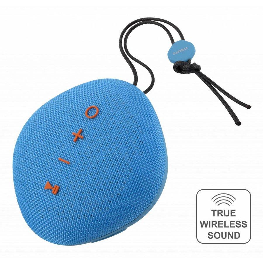 STREETZ  Water resistant flat Bluetooth-speaker 6W, IPX5, Micro-SD slot, TWS in black, blue and orange-6
