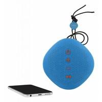 thumb-STREETZ  Water resistant flat Bluetooth-speaker 6W, IPX5, Micro-SD slot, TWS in black, blue and orange-8