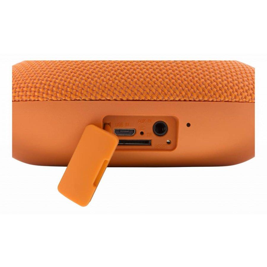 STREETZ  Water resistant flat Bluetooth-speaker 6W, IPX5, Micro-SD slot, TWS in black, blue and orange-9