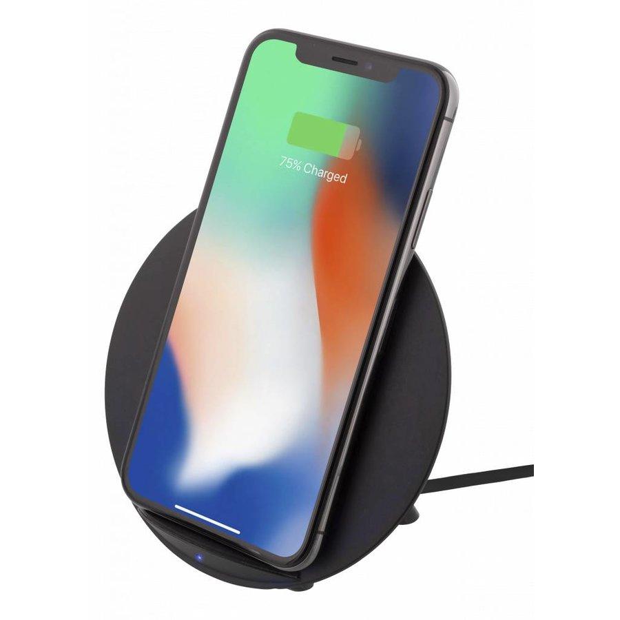 Deltaco Wireless charging pad (Qi) Draadloze oplader 10W in wit en zwart voor o.a. iPhone X, iPhone 8, Galaxy S9, Galaxy S8, Galaxy S7-5