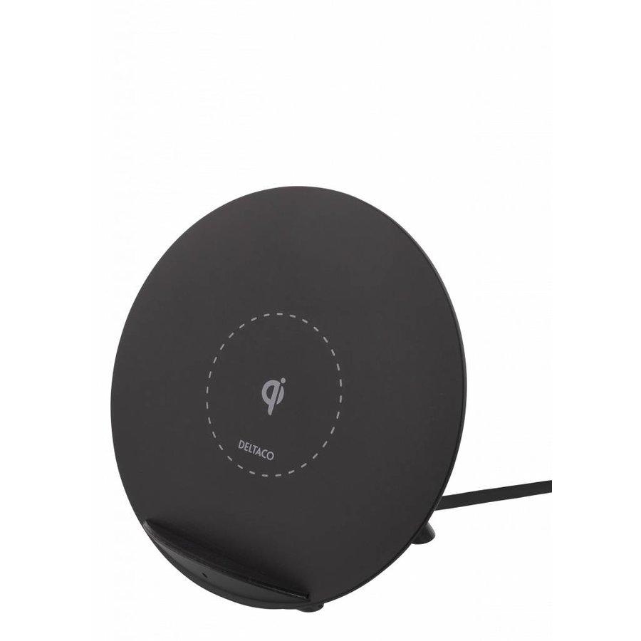 Deltaco Wireless charging pad (Qi) Draadloze oplader 10W in wit en zwart voor o.a. iPhone X, iPhone 8, Galaxy S9, Galaxy S8, Galaxy S7-1
