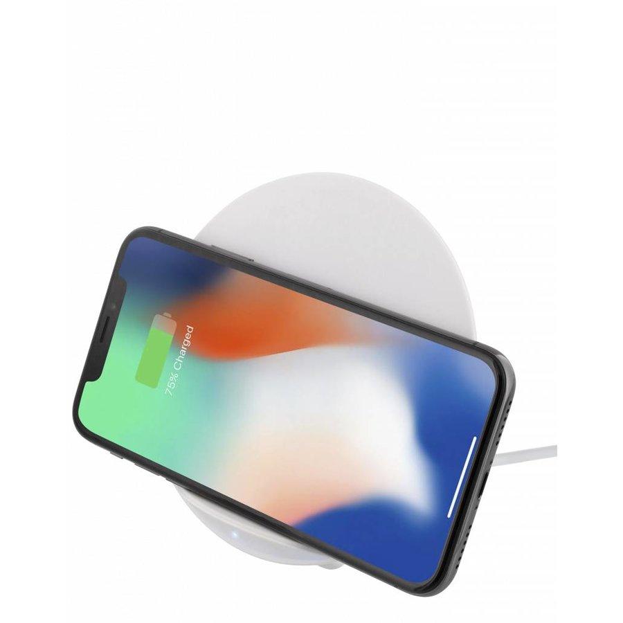 Deltaco Wireless charging pad (Qi) Draadloze oplader 10W in wit en zwart voor o.a. iPhone X, iPhone 8, Galaxy S9, Galaxy S8, Galaxy S7-4