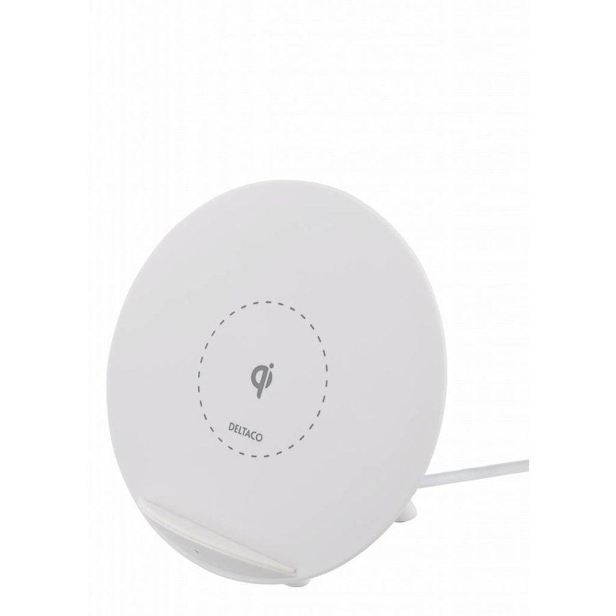 Deltaco Wireless charging pad (Qi) Draadloze oplader 10W in wit en zwart voor o.a. iPhone X, iPhone 8, Galaxy S9, Galaxy S8, Galaxy S7-3
