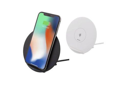 Deltaco Wireless charging pad (Qi) Draadloze oplader 10W en telefoon standaard