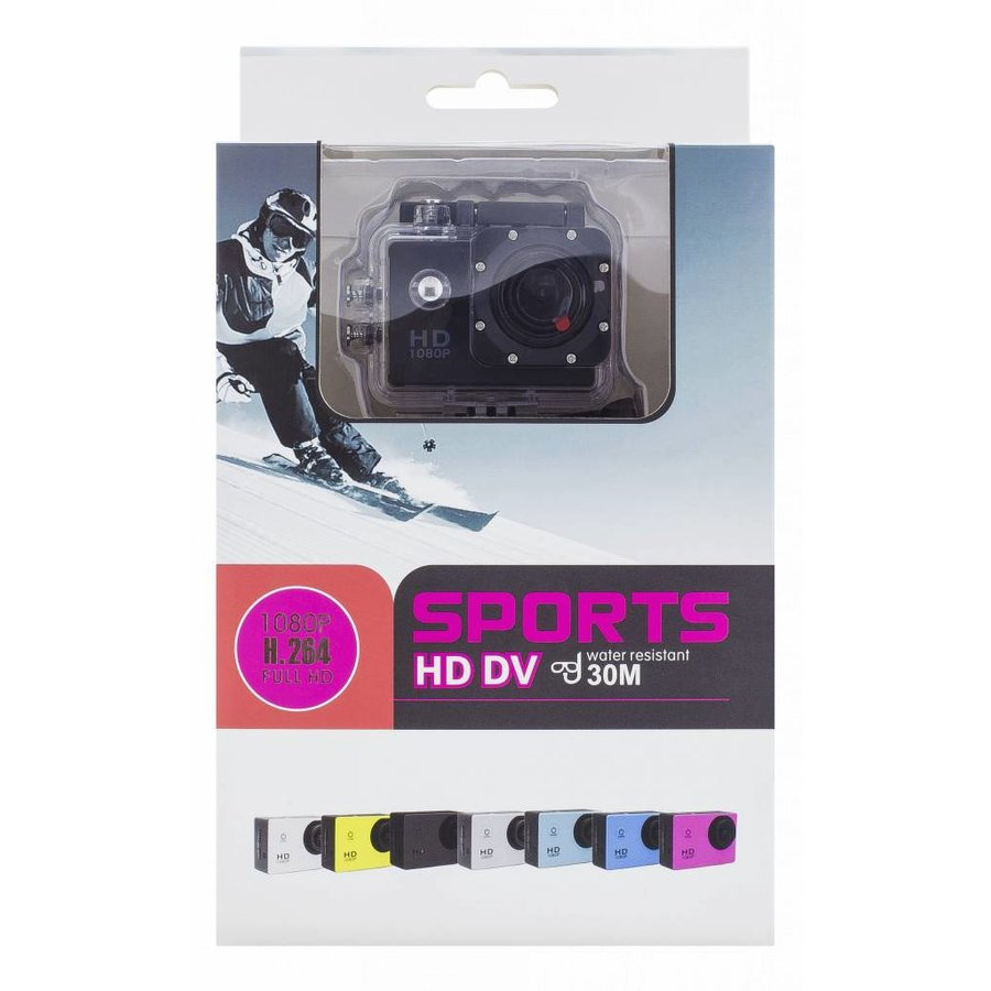 """Action camera A10 720p with 1.5 """" display 30m under water incl. 12 accessories-4"""
