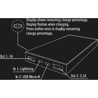 thumb-STREETZ PB-817 10.000 mAh Powerbank met 2 x USB uitgang en Micro-USB en Apple Lightning ingang wit-3