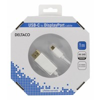 thumb-Deltaco USB-C to DisplayPort cable in different lengths 4K UHD, HDCP, 3D black or white-5