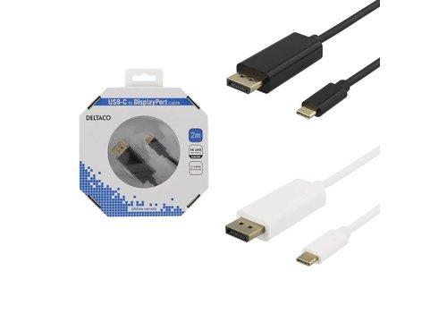 Deltaco USB-C naar DisplayPort kabel 4K UHD, HDCP, 3D