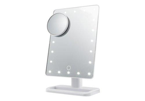 Make up mirror with LED lights en magnifying