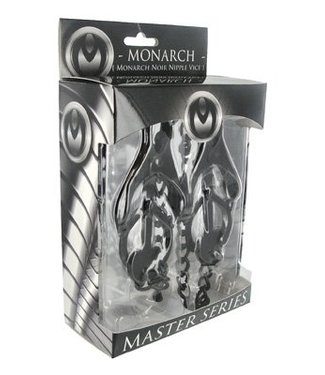 Master Series Monarch Noir Brustwarzenschraubstock