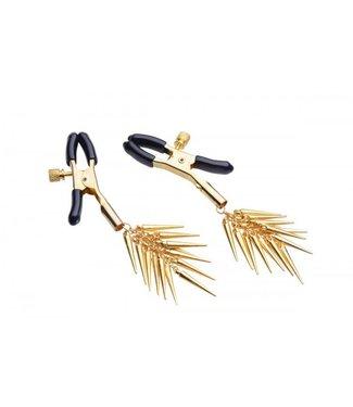 Master Series Verstellbare Nippelklammern mit Goldspikes