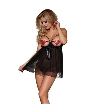 Sunspice Hearts nipple cover dress & G-string