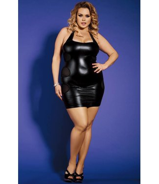 Sunspice Clubwear Dress Back Mesh Stripes & G-string (L/XL)