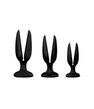 NMC Set von 3 offenen Plugs Zwart