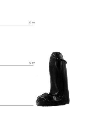 All Black Klassischer Dildo 13 x 4,5cm