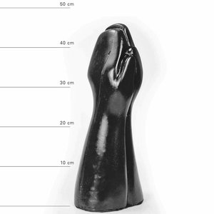 All Black Giant dubbele Fisting Dildo 32 x 16,5cm