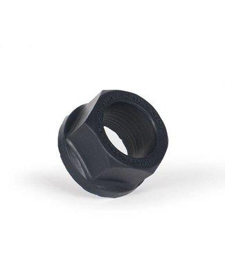 Keep Burning Lock Nutt Cockring zwart - binnen 30 mm buiten 50 mm