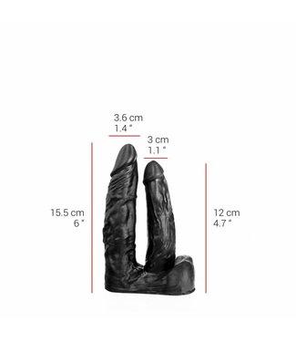 515 Line Dubbele Dildo 15.5/12 x 3.6/3 cm