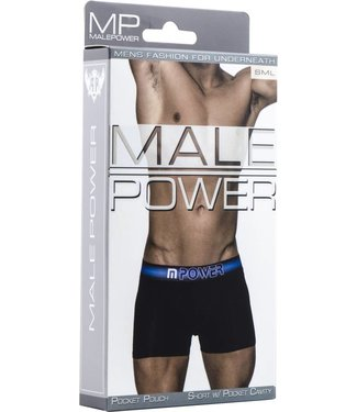 Male Power Short with pocket cavity - S (Black)