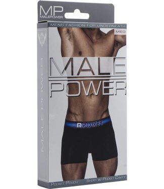 Male Power Short with pocket cavity - M (Black)