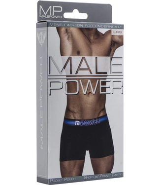 Male Power Short with pocket cavity - L (Black)