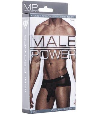 Male Power Micro Mini Hose Short - S (Black)