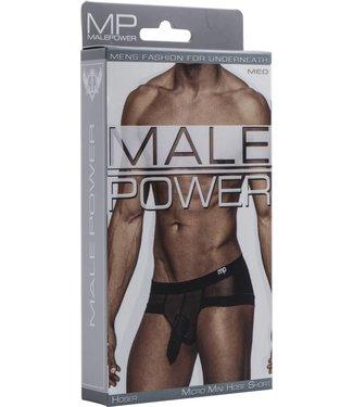 Male Power Micro Mini Hose Short - M (Black)