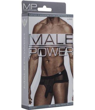 Male Power Micro Mini Hose Short - L (Black)
