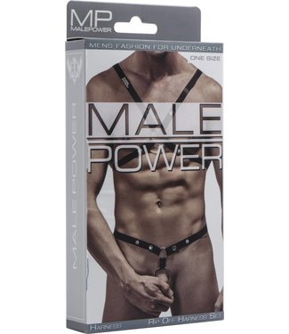 Male Power Rip off Harness Set - One Size (Black)