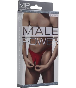 Male Power Pull Tab Thong - One Size (Red)