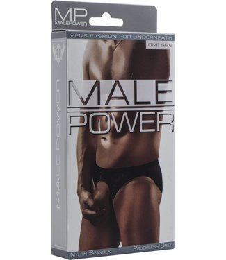 Male Power Pouchless Brief - One Size (Black)