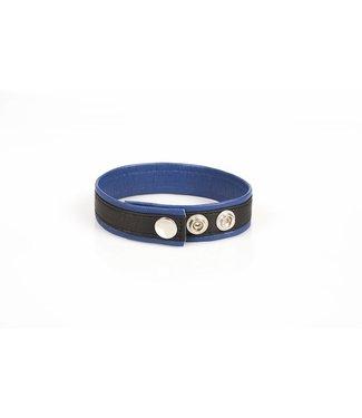 Kiotos Leder-Bizeps-Bänder - Schwarz & Blau