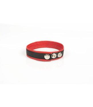 Kiotos Leder-Bizeps-Bänder - Schwarz & Rot