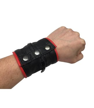 Kiotos Leather Lederen armband portemonnee rood