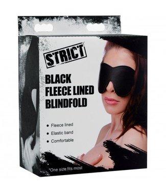 Strict Zwart Fleece Gevoerd Blinddoek