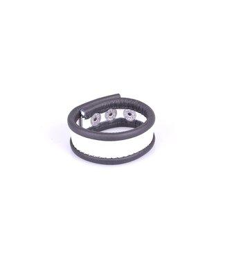 Kiotos Leather Cockstrap - Black & White
