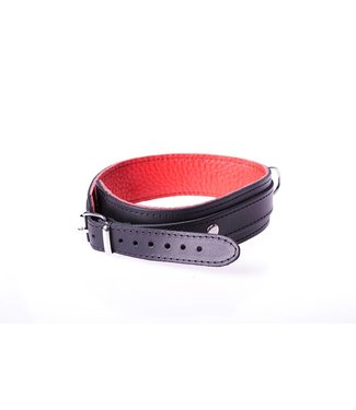 Kiotos Leather Halsband Basic - Rood