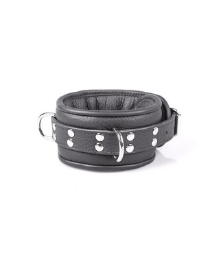 Kiotos Leather Professionele Halsband 7 cm - Zwart