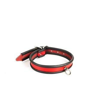 Kiotos Leather Klassieke Dame Halsband - Rood