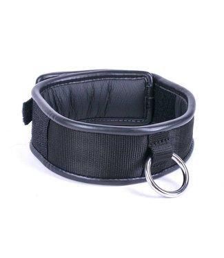 Kiotos Leather Halsband Einzelring - Schwarz